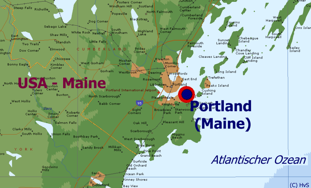 Portland Usa Map Afputracom - Map of maine usa