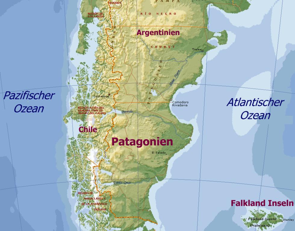 Chile Patagonien Karte.Unterwegs In Patagonien